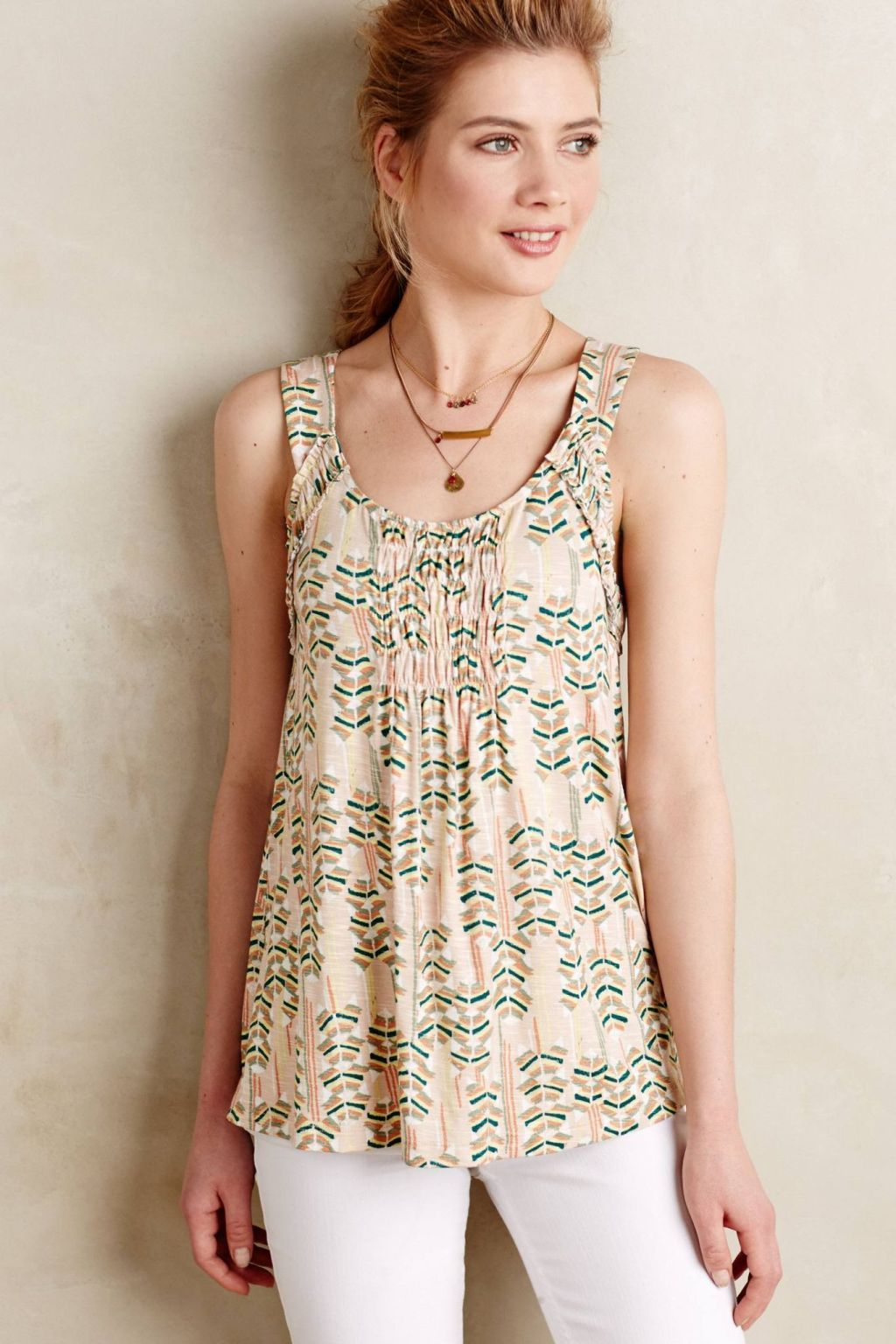 Positano Smocked Tank by Meadow Rue