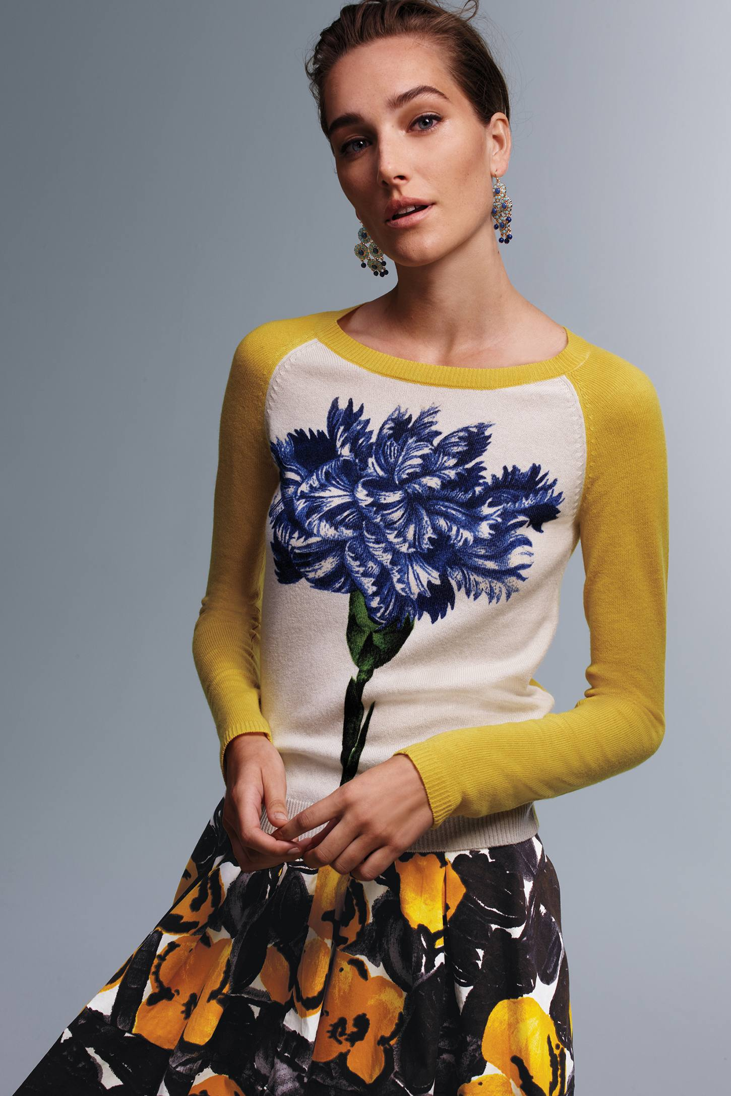 Colorblocked Wildflower Pullover by Peony by Samantha Sung